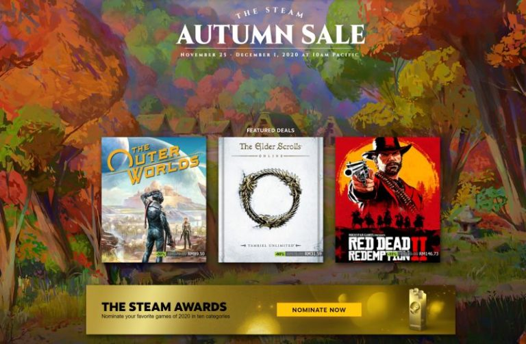Steam Autumn Sale Now Live With Up to 80 Percent Off Of Select Titles