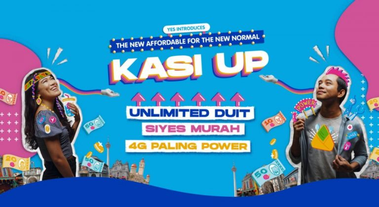 Yes 4G Introduces Kasi Up Postpaid and Prepaid Plans; Offers Up To 100GB Data For RM 49 Per Month